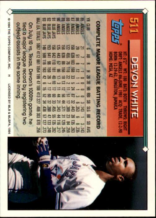 1994-Topps-Beisbol-Tarjeta-Recoger-461-792 miniatura 79
