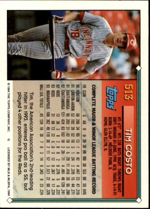1994-Topps-Beisbol-Tarjeta-Recoger-461-792 miniatura 83