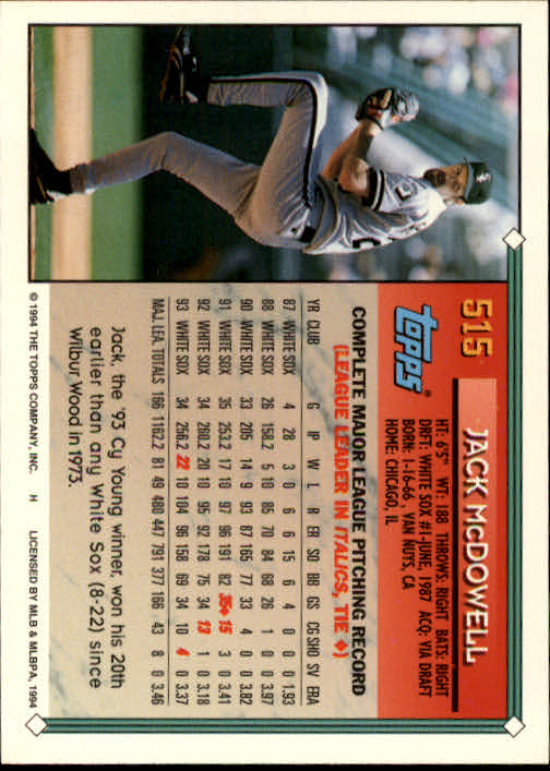 1994-Topps-Beisbol-Tarjeta-Recoger-461-792 miniatura 87