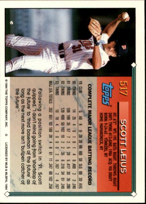 1994-Topps-Beisbol-Tarjeta-Recoger-461-792 miniatura 91
