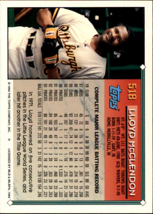 1994-Topps-Beisbol-Tarjeta-Recoger-461-792 miniatura 93