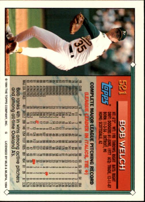 1994-Topps-Beisbol-Tarjeta-Recoger-461-792 miniatura 95