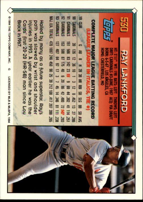 1994-Topps-Beisbol-Tarjeta-Recoger-461-792 miniatura 104