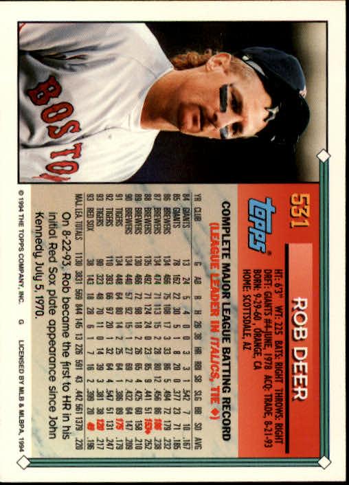 1994-Topps-Beisbol-Tarjeta-Recoger-461-792 miniatura 106