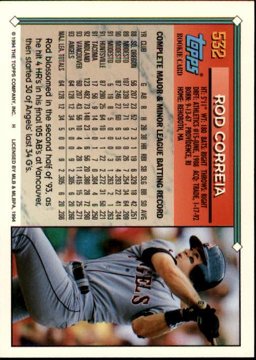 1994-Topps-Beisbol-Tarjeta-Recoger-461-792 miniatura 108