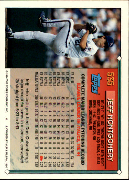 1994-Topps-Beisbol-Tarjeta-Recoger-461-792 miniatura 113