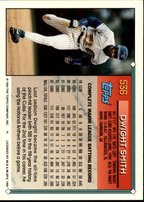 1994-Topps-Beisbol-Tarjeta-Recoger-461-792 miniatura 115