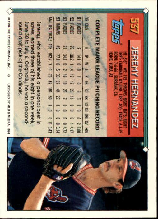 1994-Topps-Beisbol-Tarjeta-Recoger-461-792 miniatura 117