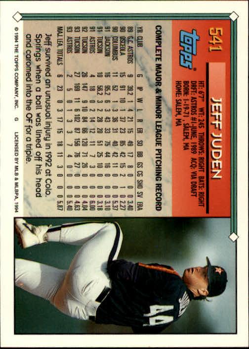1994-Topps-Beisbol-Tarjeta-Recoger-461-792 miniatura 122