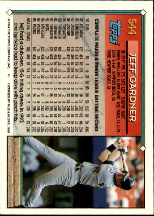 1994-Topps-Beisbol-Tarjeta-Recoger-461-792 miniatura 127