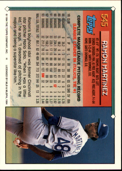 1994-Topps-Beisbol-Tarjeta-Recoger-461-792 miniatura 129