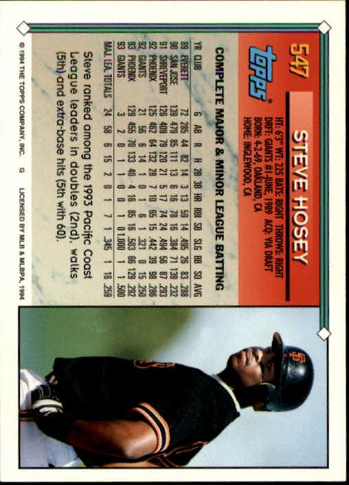 1994-Topps-Beisbol-Tarjeta-Recoger-461-792 miniatura 131