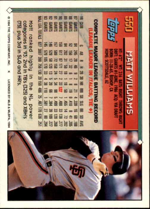 1994-Topps-Beisbol-Tarjeta-Recoger-461-792 miniatura 137