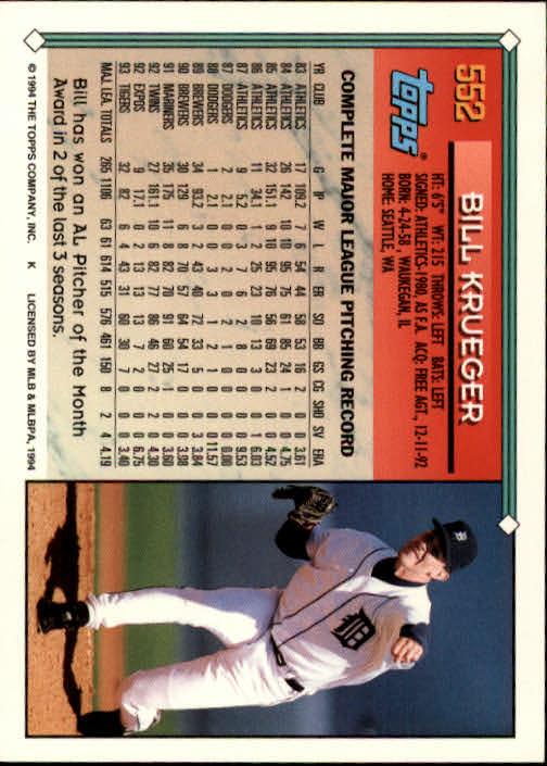 1994-Topps-Beisbol-Tarjeta-Recoger-461-792 miniatura 141