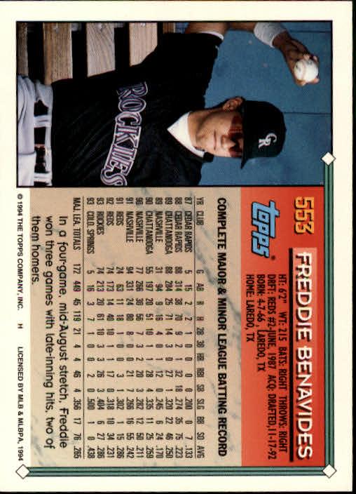 1994-Topps-Beisbol-Tarjeta-Recoger-461-792 miniatura 143