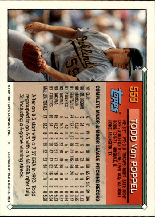 1994-Topps-Beisbol-Tarjeta-Recoger-461-792 miniatura 152