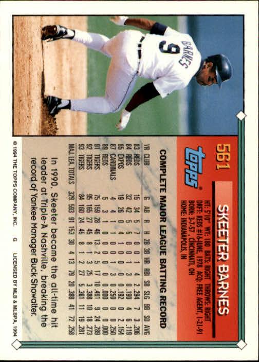 1994-Topps-Beisbol-Tarjeta-Recoger-461-792 miniatura 156