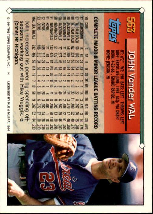 1994-Topps-Beisbol-Tarjeta-Recoger-461-792 miniatura 160