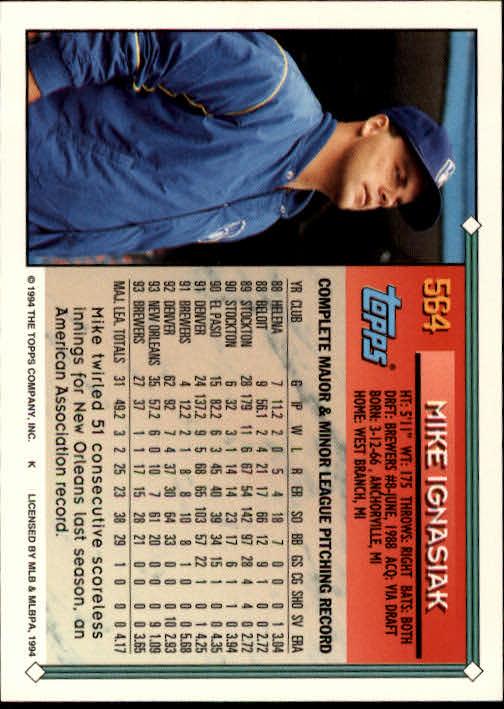 1994-Topps-Beisbol-Tarjeta-Recoger-461-792 miniatura 162