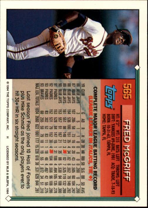 1994-Topps-Beisbol-Tarjeta-Recoger-461-792 miniatura 164