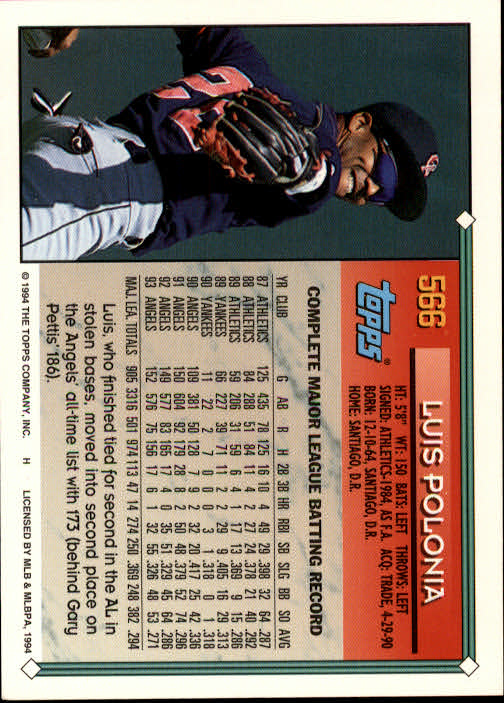 1994-Topps-Beisbol-Tarjeta-Recoger-461-792 miniatura 166