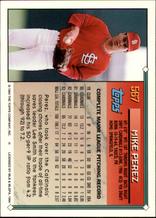 1994-Topps-Beisbol-Tarjeta-Recoger-461-792 miniatura 168