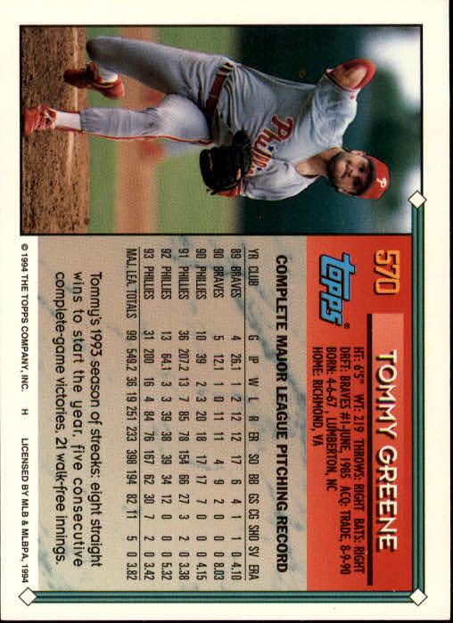 1994-Topps-Beisbol-Tarjeta-Recoger-461-792 miniatura 172