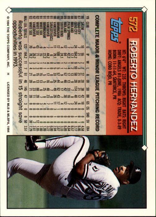 1994-Topps-Beisbol-Tarjeta-Recoger-461-792 miniatura 174