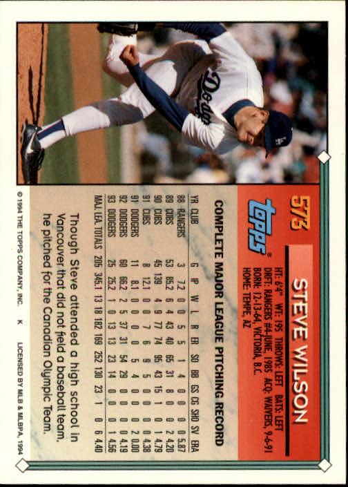 1994-Topps-Beisbol-Tarjeta-Recoger-461-792 miniatura 176