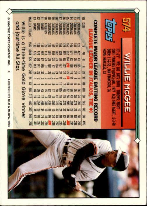 1994-Topps-Beisbol-Tarjeta-Recoger-461-792 miniatura 178