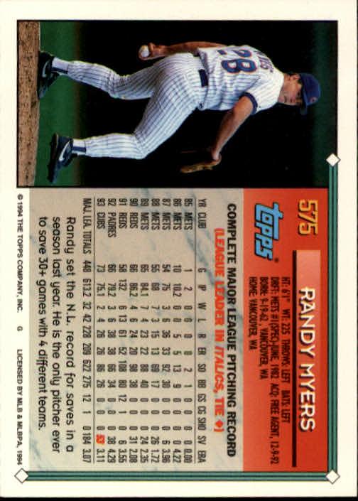 1994-Topps-Beisbol-Tarjeta-Recoger-461-792 miniatura 180