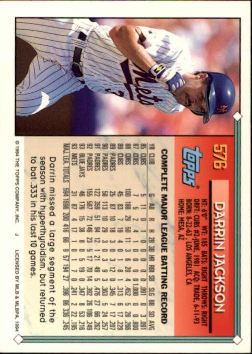 1994-Topps-Beisbol-Tarjeta-Recoger-461-792 miniatura 182