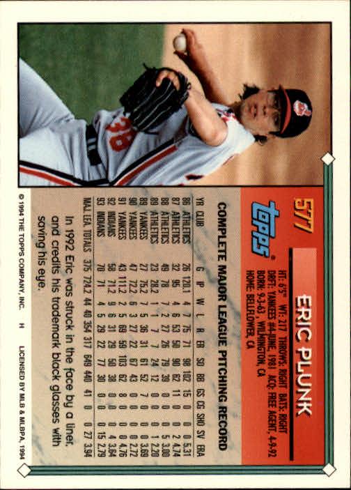 1994-Topps-Beisbol-Tarjeta-Recoger-461-792 miniatura 184