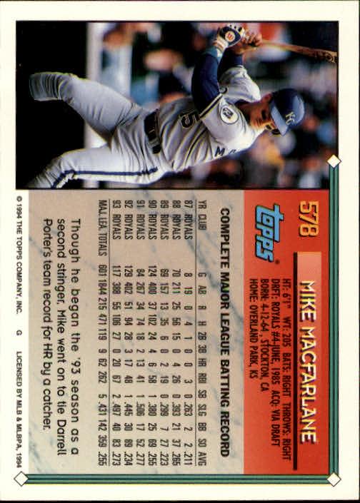 1994-Topps-Beisbol-Tarjeta-Recoger-461-792 miniatura 186