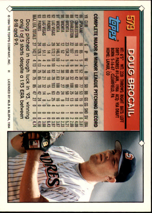 1994-Topps-Beisbol-Tarjeta-Recoger-461-792 miniatura 188