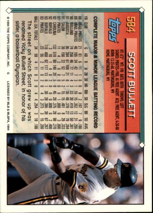 1994-Topps-Beisbol-Tarjeta-Recoger-461-792 miniatura 194