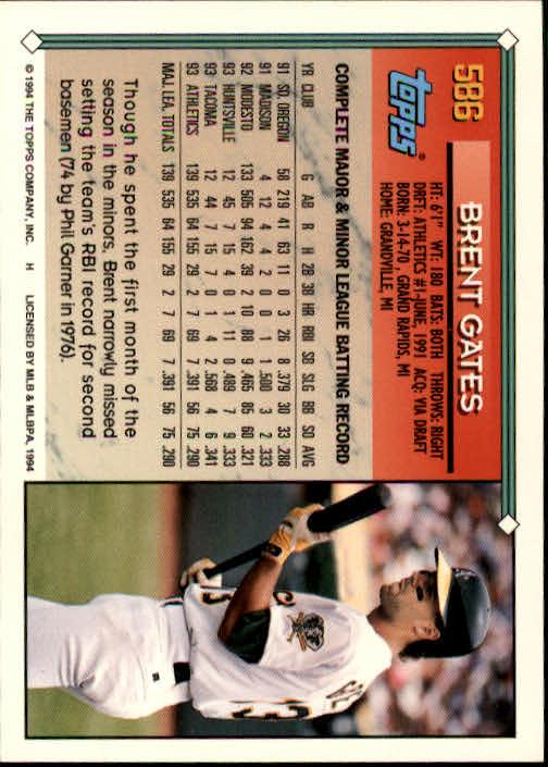 1994-Topps-Beisbol-Tarjeta-Recoger-461-792 miniatura 198