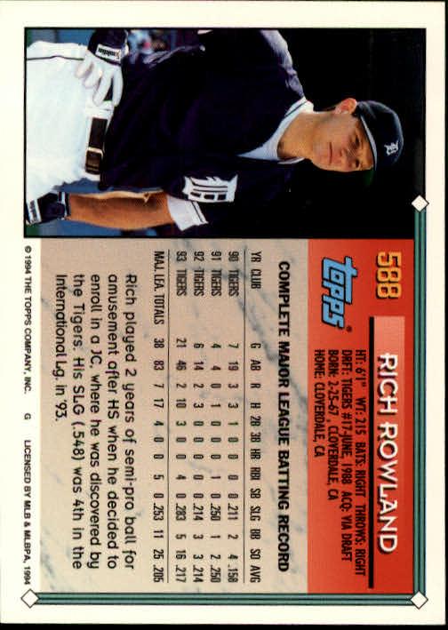 1994-Topps-Beisbol-Tarjeta-Recoger-461-792 miniatura 202