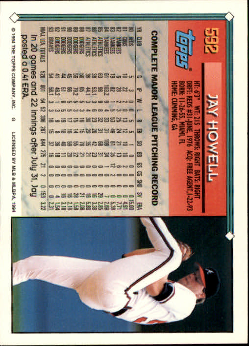 1994-Topps-Beisbol-Tarjeta-Recoger-461-792 miniatura 210