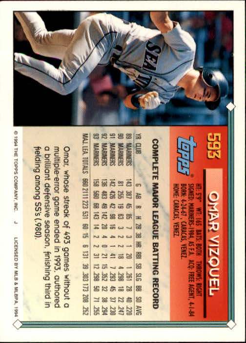 1994-Topps-Beisbol-Tarjeta-Recoger-461-792 miniatura 212