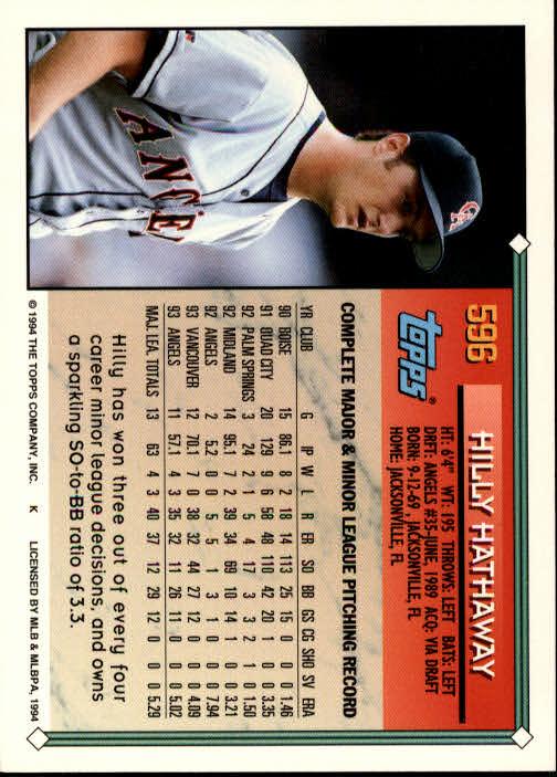 1994-Topps-Beisbol-Tarjeta-Recoger-461-792 miniatura 216