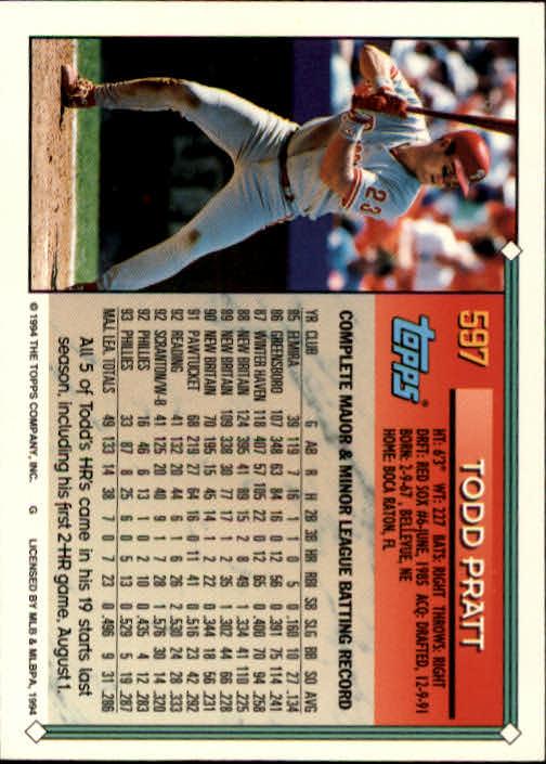 1994-Topps-Beisbol-Tarjeta-Recoger-461-792 miniatura 218