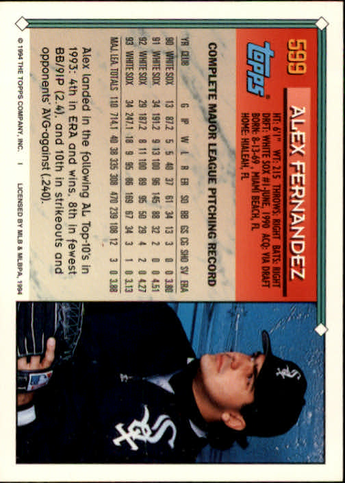 1994-Topps-Beisbol-Tarjeta-Recoger-461-792 miniatura 220