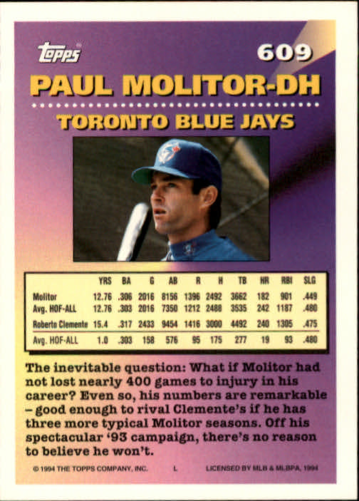 1994-Topps-Beisbol-Tarjeta-Recoger-461-792 miniatura 230