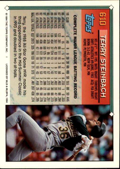1994-Topps-Beisbol-Tarjeta-Recoger-461-792 miniatura 232