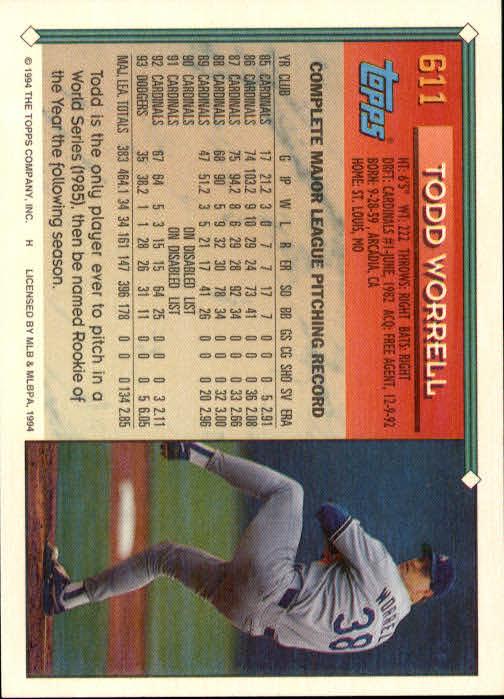 1994-Topps-Beisbol-Tarjeta-Recoger-461-792 miniatura 234