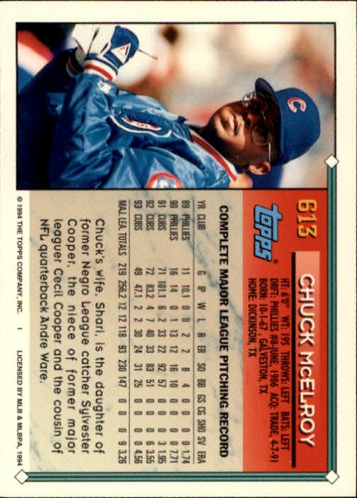 1994-Topps-Beisbol-Tarjeta-Recoger-461-792 miniatura 236