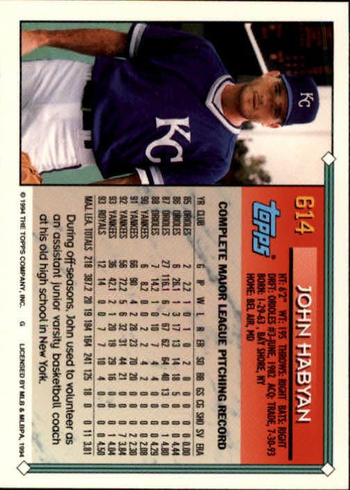 1994-Topps-Beisbol-Tarjeta-Recoger-461-792 miniatura 238