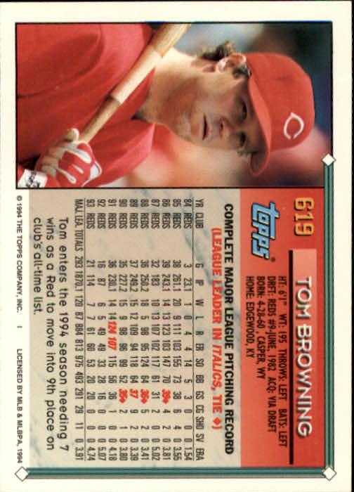 1994-Topps-Beisbol-Tarjeta-Recoger-461-792 miniatura 244