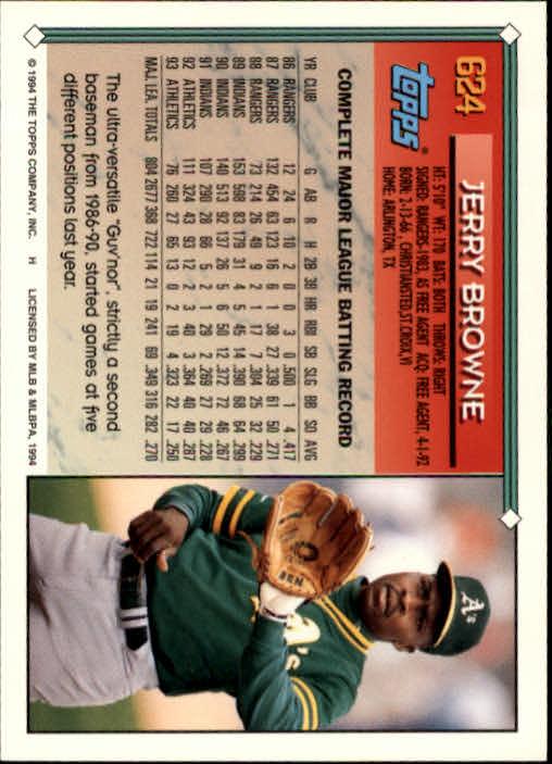 1994-Topps-Beisbol-Tarjeta-Recoger-461-792 miniatura 250